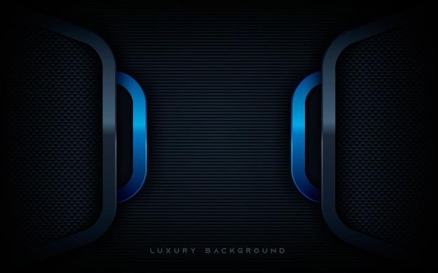 현대 파란색과 검은색 차원 레이어 배경