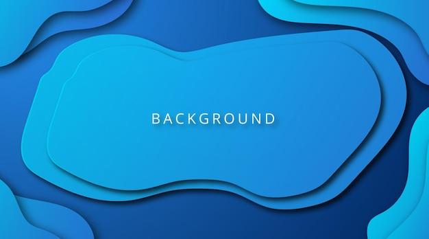 Современный синий фон в стиле вырезки из бумаги