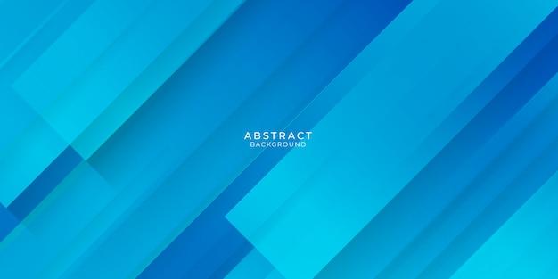 抽象的な要素とダイナミックな形のモダンな青い背景。