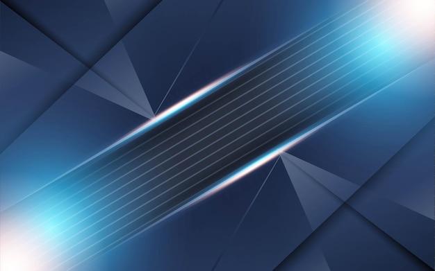 Современный синий фон с линиями из текстурированного углерода
