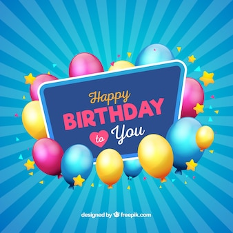 Modern blue birthday background