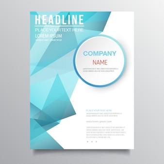 Modern blue brochure