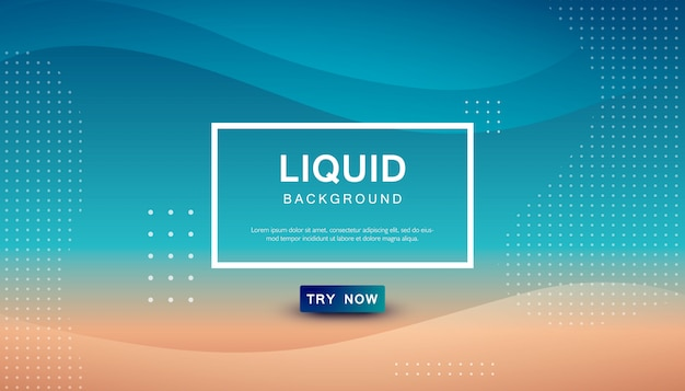 Modern blue and brown dynamic background