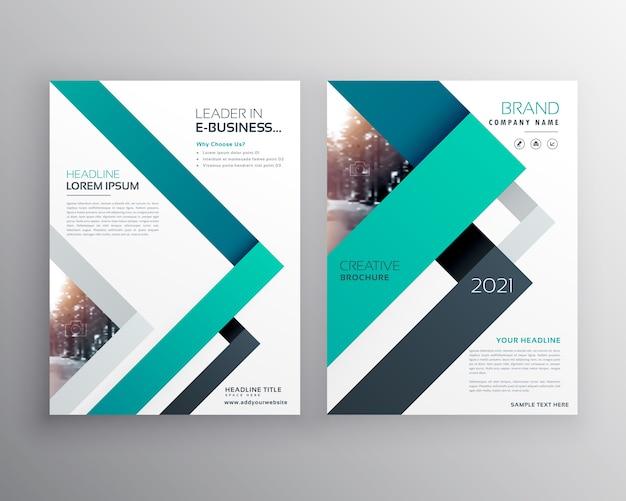 Современный синий бизнес-брошюра