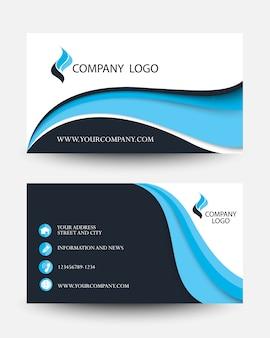 Modern blue business creative card template