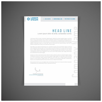 Modern blue business letterhead