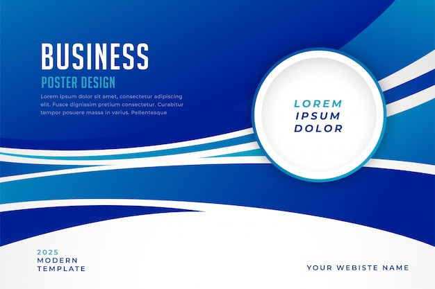 Modern blue business presentation template