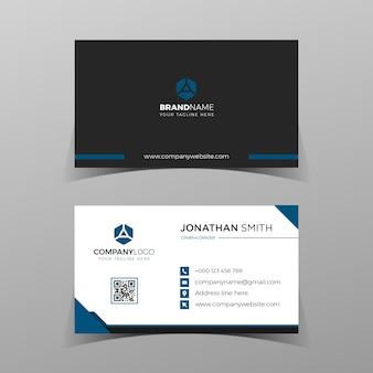 モダンな青いbussinesカードテンプレートクリーンなコンセプトのエレガントな要素構成デザイン