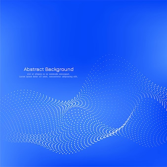 Modern blue color dotted wave background