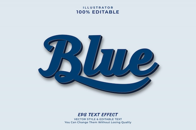 Modern blue color text effect