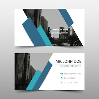 Modern blue commercial business card