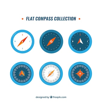 Modern blue compass pack