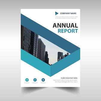 Modern blue corporate brochure template