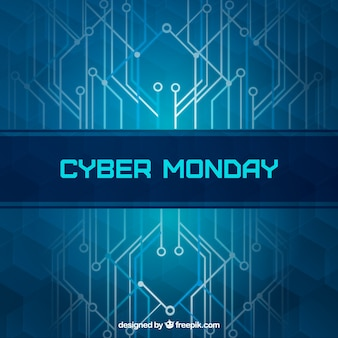 Modern blue cyber monday background