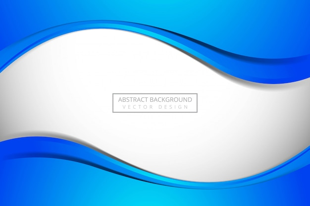 Modern blue flowing business wave background