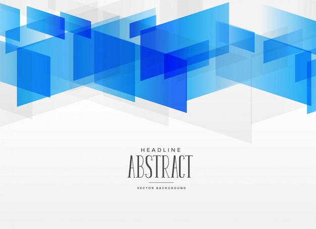 Modern blue geometric shape abstract background
