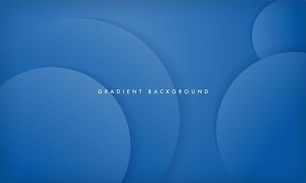 ダイナミックな円のレイヤー形状とモダンな青のグラデーションカラーの背景