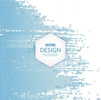 Modern blue halftone dots background