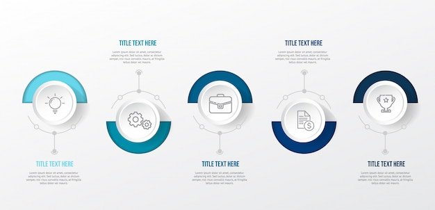 Modern blue infographic template