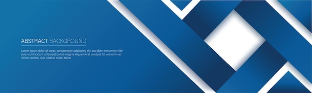 Modern blue line banner