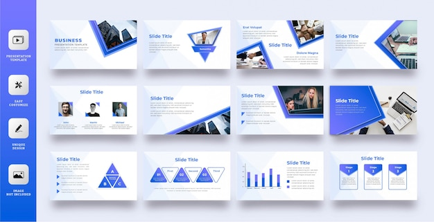 Modern blue multipurpose presentation template