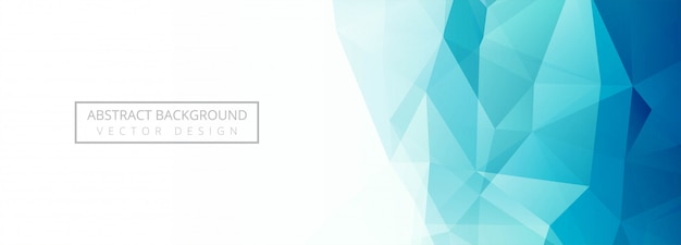Modern blue polygon banner background