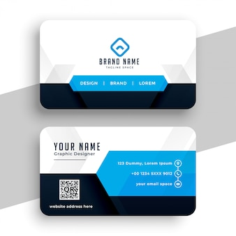 Modern blue professional business card template design