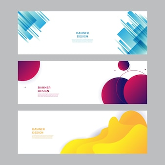 モダンな青赤黄緑のバナーの背景。ベクトル抽象的なグラフィックデザインバナーパターン背景テンプレート。