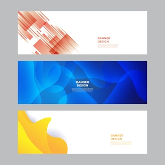 Modern blue red yellow green banner background. vector abstract graphic design banner pattern background template.