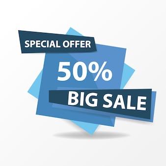Modern blue sale banner template