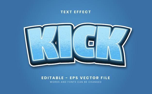 Modern blue style text effect