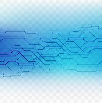 투명 배경으로 현대 블루 기술 요소