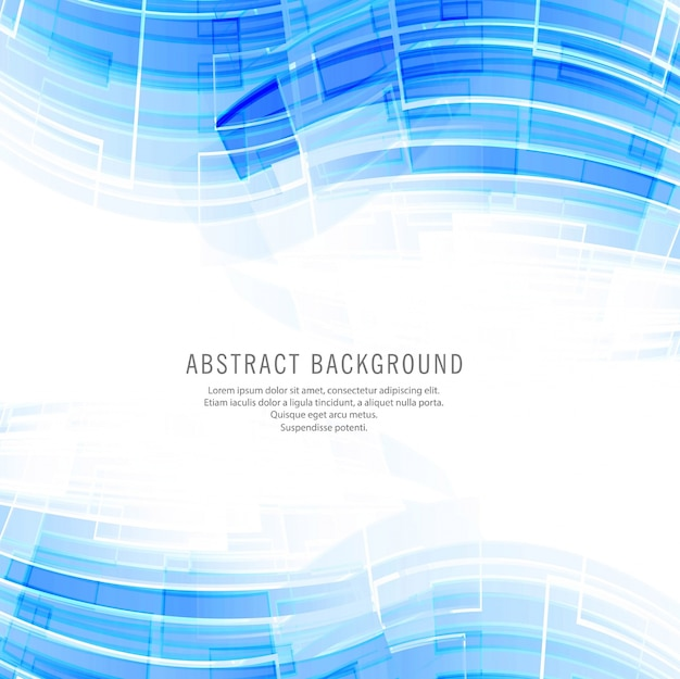 Современный синий фон волны технологии Бесплатные векторы