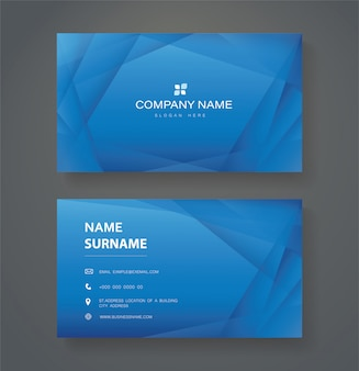 Modern blue triangle double sided business