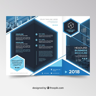 Trifold brochure vectors photos and psd files free download modern blue trifold brochure template saigontimesfo