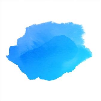 Modern blue watercolor hand drawn splash design