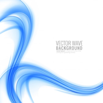 Modern blue wave background