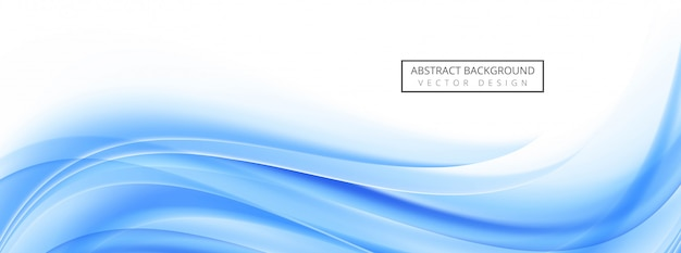 Modern blue wave banner template background