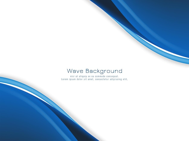 Modern blue wave concept background