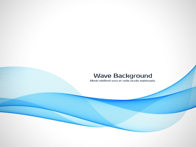 Modern blue wave decorative background