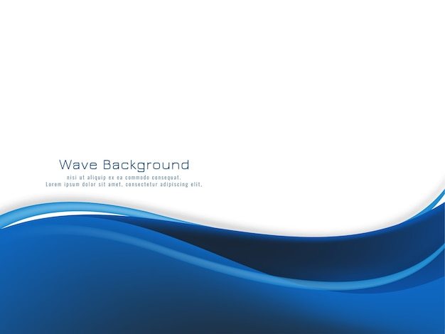 Современная синяя волна дизайн фона