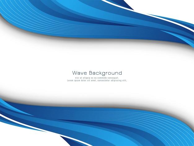 Modern blue wave design decorative background vector
