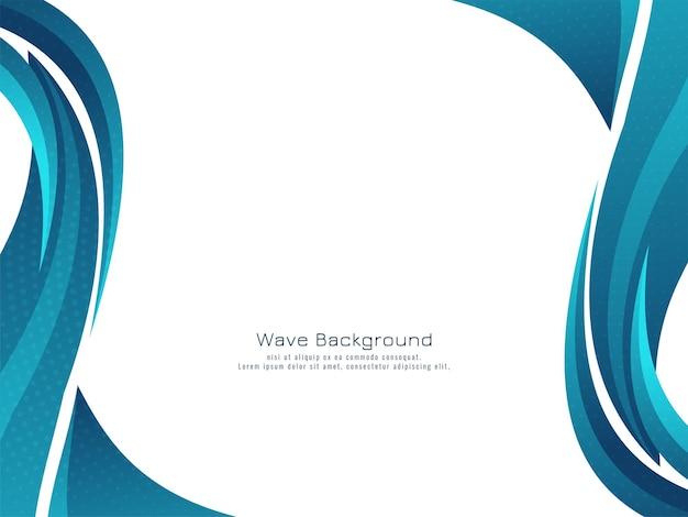 Vettore decorativo moderno del fondo di progettazione dell'onda blu Vettore gratuito