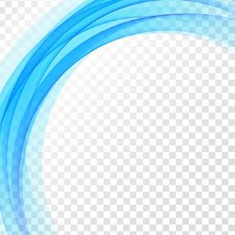 Modern blue wave transparent background