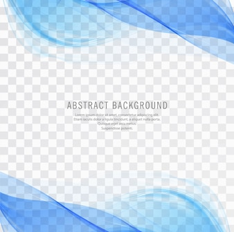 Modern blue wave transparent vector illustration