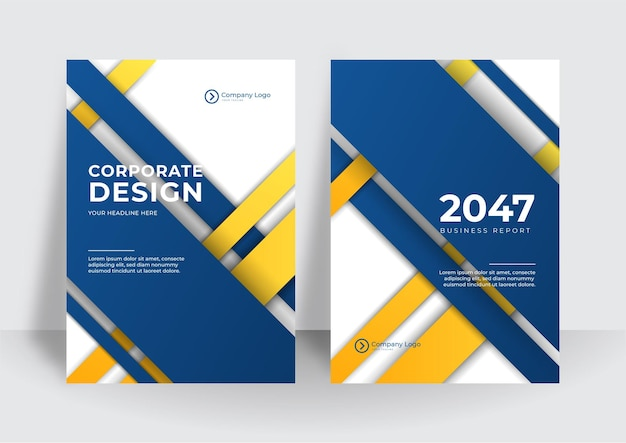 Modern blue yellow business corporate cover design background. blue digital contemporary covers, templates, posters, brochures, banners, flyers. abstract minimal futuristic technology design