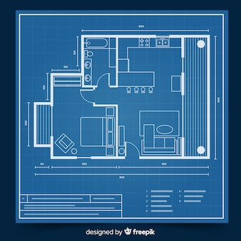 Modern blueprint for house concept