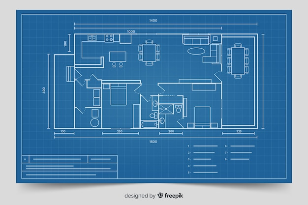 Modern blueprint for house design