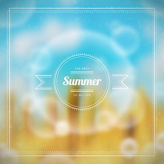 Размытый летний фон