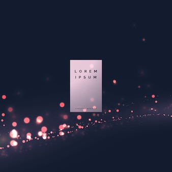 Modern bokeh light effect background design